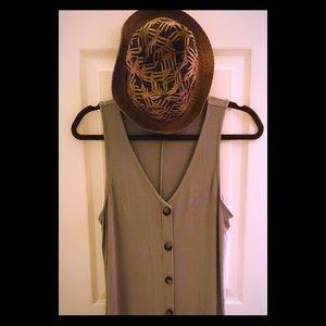 Charming Charlie sage maxi dress